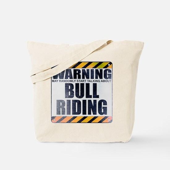 Warning: Bull Riding Tote Bag
