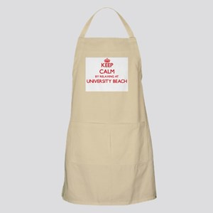 Keep calm by relaxing at University Beach Te Apron