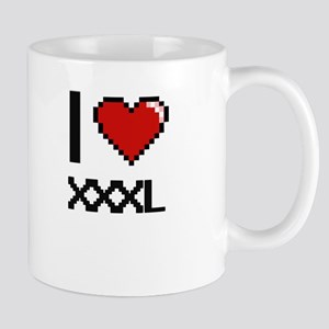I love Xxxl digital design Mugs