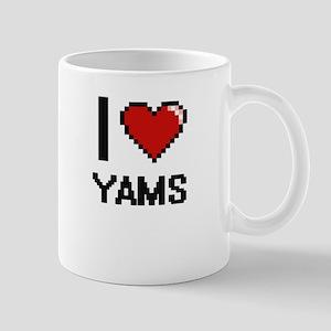 I love Yams digital design Mugs