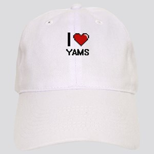 I love Yams digital design Cap