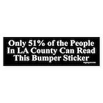51 Percent Can Read This Bumper Sticker