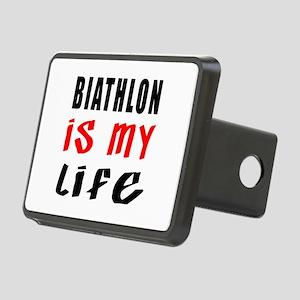 Biathlon Is My Life Rectangular Hitch Cover