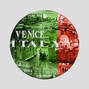 VENICE ITALY CANALS Round Ornament