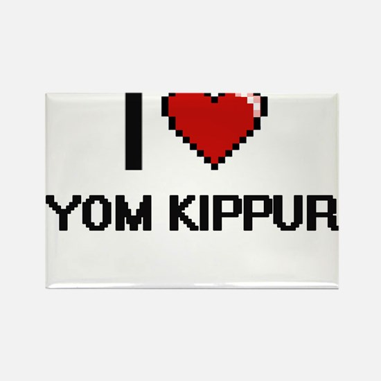 I love Yom Kippur digital design Magnets