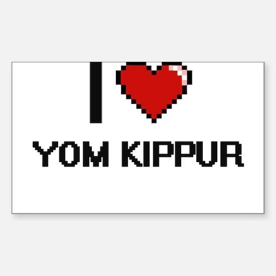 I love Yom Kippur digital design Decal
