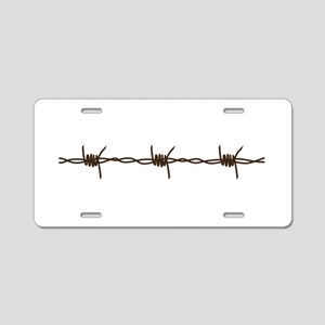 Barbed Wire Aluminum License Plate