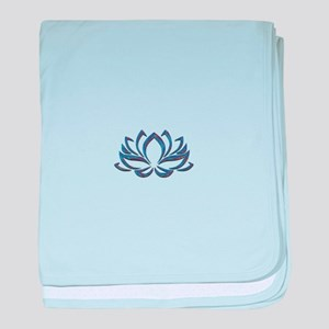 Lotus Mixed Colors baby blanket