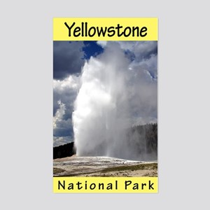 Yellowstone National Park (Vertical) Sticker (Rect