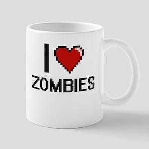 I love Zombies digital design Mugs