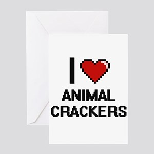 I love Animal Crackers digital desi Greeting Cards