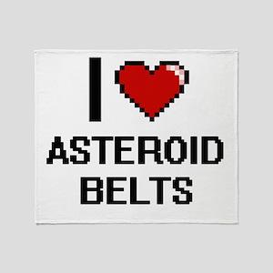 I love Asteroid Belts digital design Throw Blanket