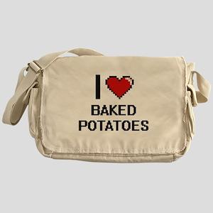 I love Baked Potatoes digital design Messenger Bag