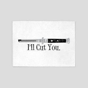Ill Cut You 5'x7'Area Rug