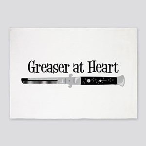Greaser At Heart 5'x7'Area Rug