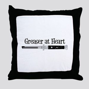 Greaser At Heart Throw Pillow