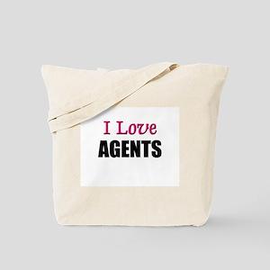 I Love AGENTS Tote Bag