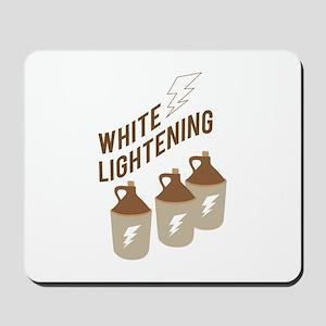White Lightening Mousepad