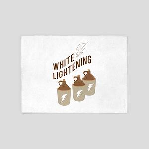 White Lightening 5'x7'Area Rug