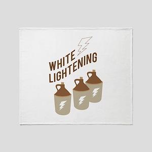White Lightening Throw Blanket
