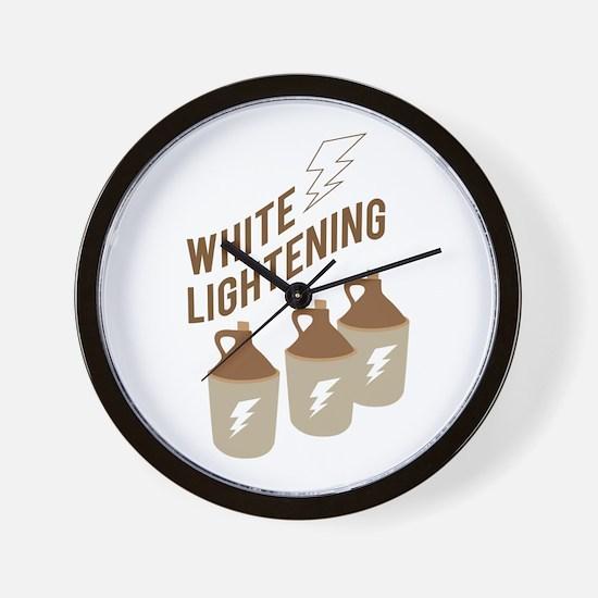 White Lightening Wall Clock