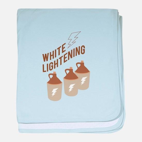 White Lightening baby blanket