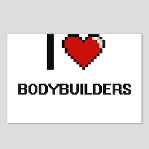 I love Bodybuilders digit Postcards (Package of 8)