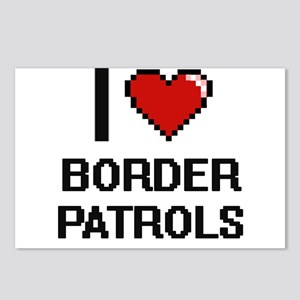 I love Border Patrols dig Postcards (Package of 8)