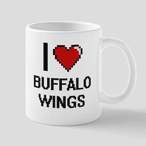 I love Buffalo Wings digital design Mugs