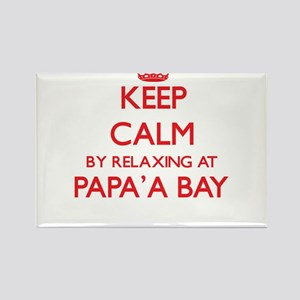Keep calm by relaxing at Papa'A Bay Hawaii Magnets