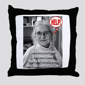 Is Growing Old A Crime? Throw Pillow