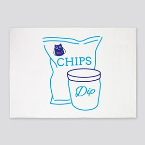 Chips And Dip 5'x7'Area Rug