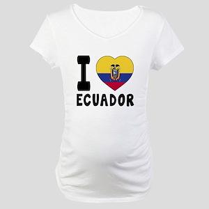 I Love Ecuador Maternity T-Shirt