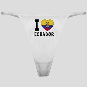 I Love Ecuador Classic Thong