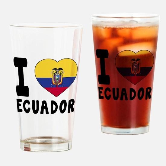 I Love Ecuador Drinking Glass