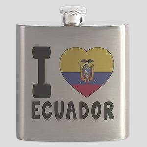 I Love Ecuador Flask