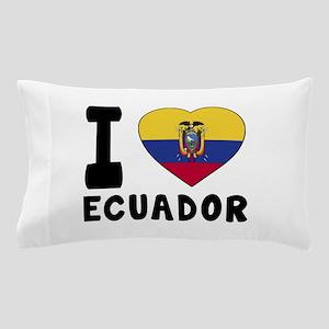 I Love Ecuador Pillow Case