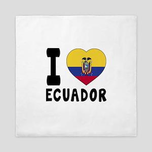 I Love Ecuador Queen Duvet