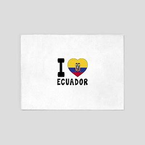 I Love Ecuador 5'x7'Area Rug