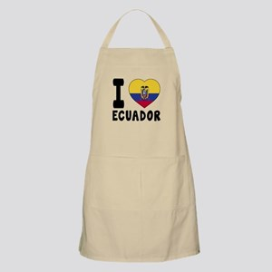 I Love Ecuador Apron