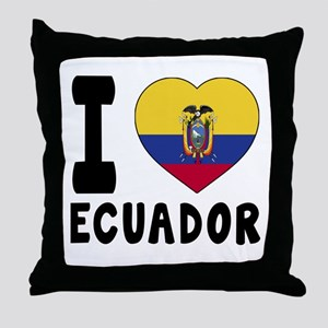 I Love Ecuador Throw Pillow