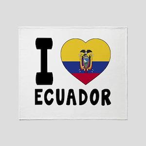 I Love Ecuador Throw Blanket