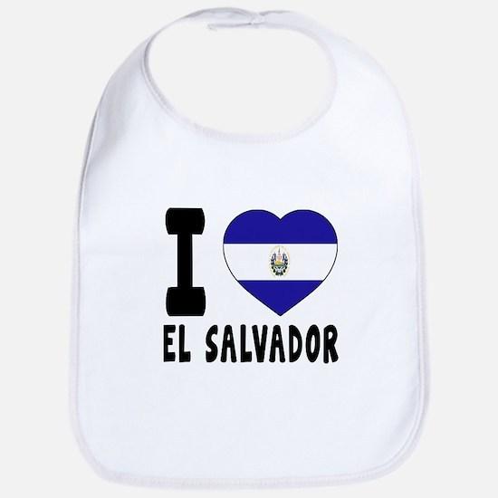 I Love El Salvador Bib