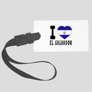 I Love El Salvador Large Luggage Tag