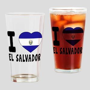I Love El Salvador Drinking Glass