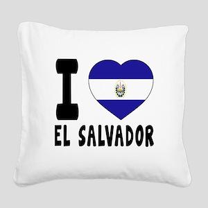 I Love El Salvador Square Canvas Pillow
