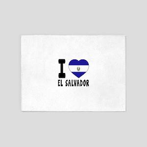 I Love El Salvador 5'x7'Area Rug
