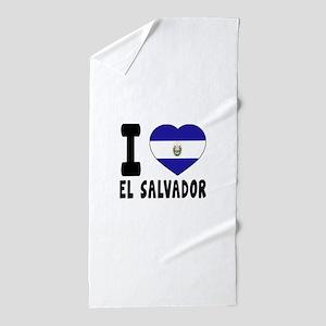 I Love El Salvador Beach Towel