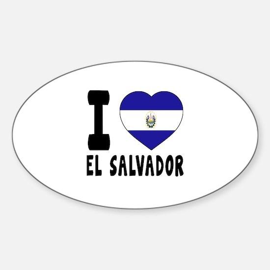 I Love El Salvador Sticker (Oval)