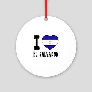 I Love El Salvador Round Ornament